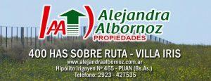 EN VENTA: 400 hs sobre ruta – Villa Iris