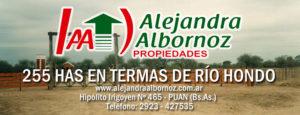 EN VENTA: 255 has en Departamento de Termas de Río Hondo