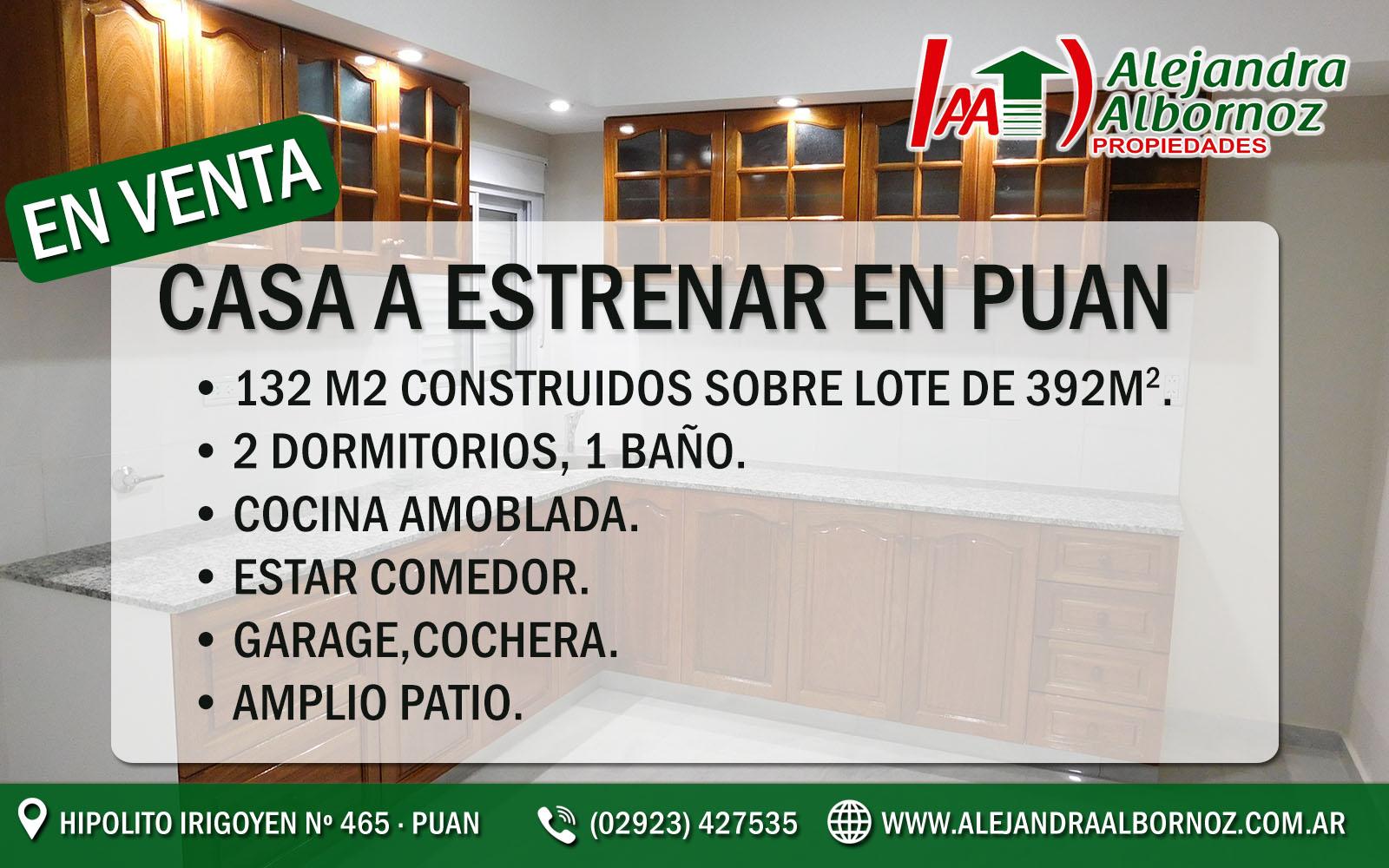 Plantilla venta CASA ESTRENAR PUAN