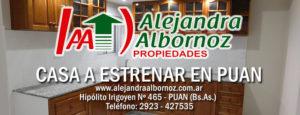 EN VENTA: Casa a estrenar en Puan
